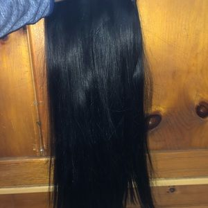 """Accessories - 18"""" Black Clip In Pony Extension"""